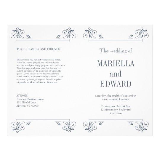 Elegant Sconce Wedding Program