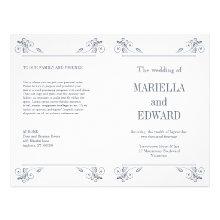 Elegant Sconce Wedding Program Full Color Flyer