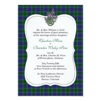 Elegant Scott Clan Tartan Wedding Invitation