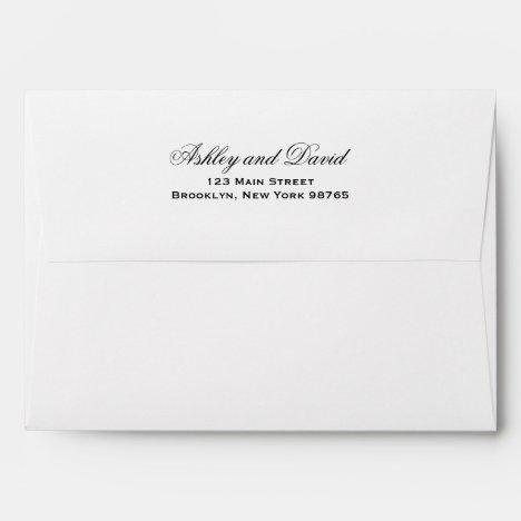 Elegant Script 5x7 Invitation Envelope