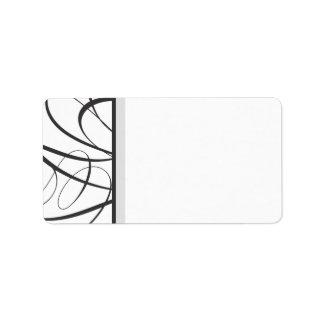 Elegant Script Address Label - Black