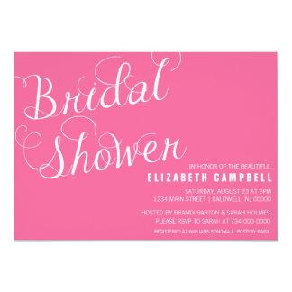 Elegant Script Bridal Shower Invitations