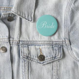 "Elegant Script ""Bride"" Pinback Button"