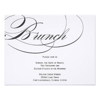 Elegant Script Brunch Invitation - Black