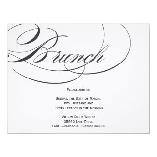 Elegant Script Brunch Invitation - Black