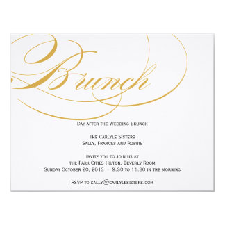 Elegant Script Brunch Invitation - Gold