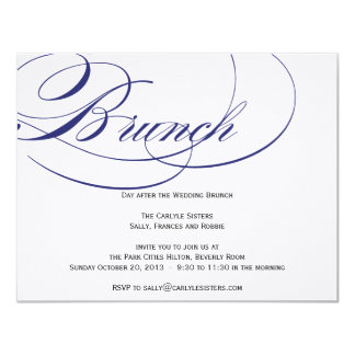 Elegant Script Brunch Invitation - Navy