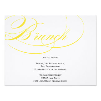 Elegant Script Brunch Invitation - Yellow