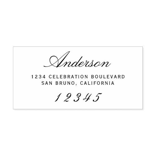 Elegant Script  Custom Modern Return Address Rubber Stamp