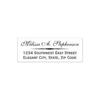 Elegant Script Custom Return Address Stamp