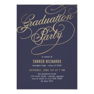 Elegant Script EDITABLE COLOR Graduation Invite