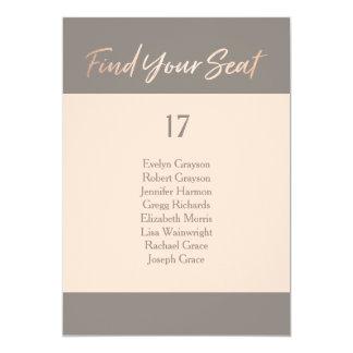 Elegant Script Faux Foil Seating Chart Card