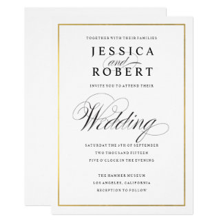 Gold Wedding Invitations Announcements Zazzle