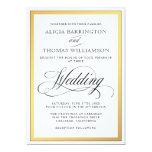 Elegant Script Flourishes Wedding Card at Zazzle