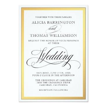oasis_landing Elegant Script Flourishes Wedding Card