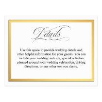 Elegant Script Flourishes Wedding Details Postcard