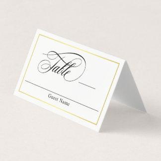 Elegant Script Flourishes Wedding Place Card