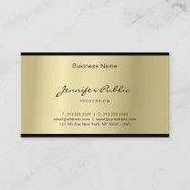 Elegant Script Glamorous Gold Professional Clean Business Card