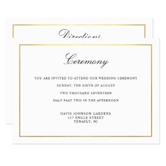 Elegant Script Gold and Border Enclosure