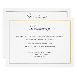 Elegant Script Gold and Border Enclosure Card