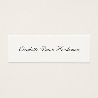 Elegant script graduation announcement name card