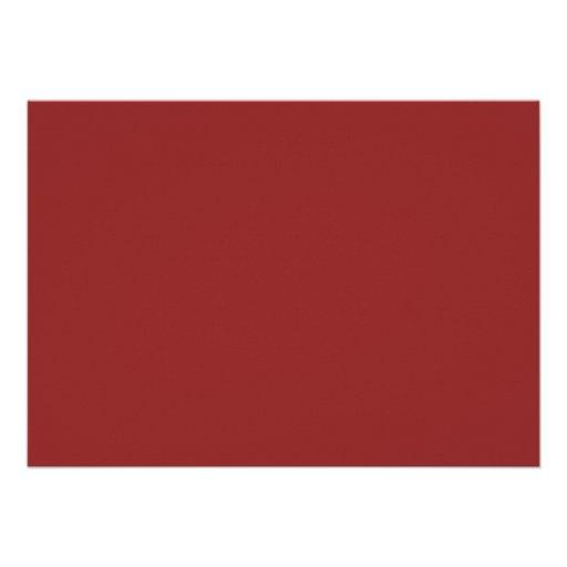 Elegant Script Graduation Announcement - Red (back side)