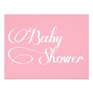 Elegant Script Light Pink Baby Shower Invitation