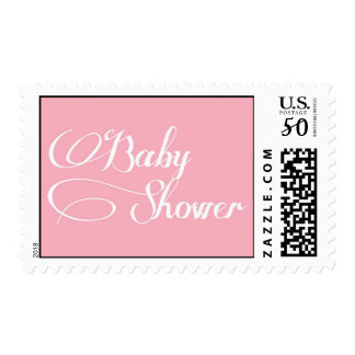 Elegant Script Light Pink Baby Shower Stamp
