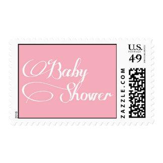 Elegant Script Light Pink Baby Shower Stamp