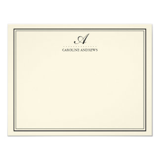 Elegant Script Monogram Stationery Cards