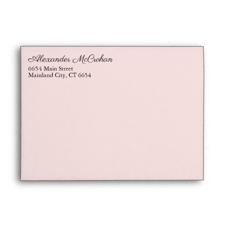 Elegant Script Pink Return Address Mailing Envelope