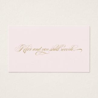 Elegant Script Pink Salon  Referral Card
