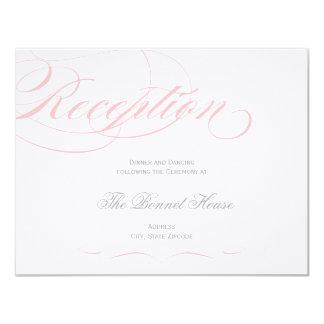 Elegant Script Reception Card - Blush Pink Personalized Announcements
