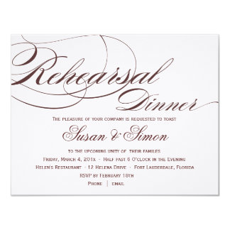 Orange Script Rehearsal Dinner Invitations Announcements Zazzle