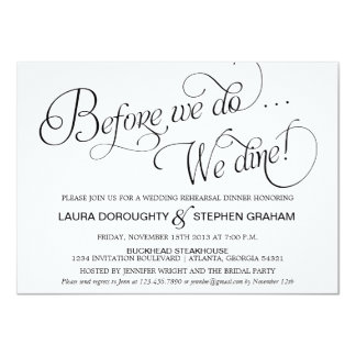 Script Rehearsal Dinner Invitations Announcements Zazzle