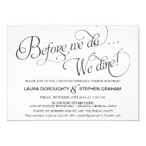 Elegant Script Rehearsal Dinner Invitation White