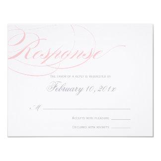 Elegant Script Response Card - Blush Pink Custom Announcements