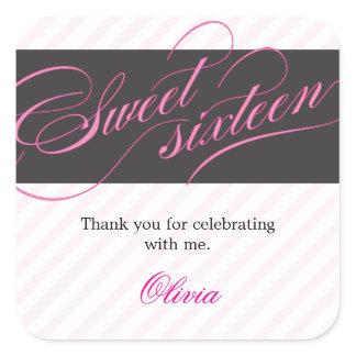 Elegant Script Sweet Sixteen Party Favor Sticker stickers