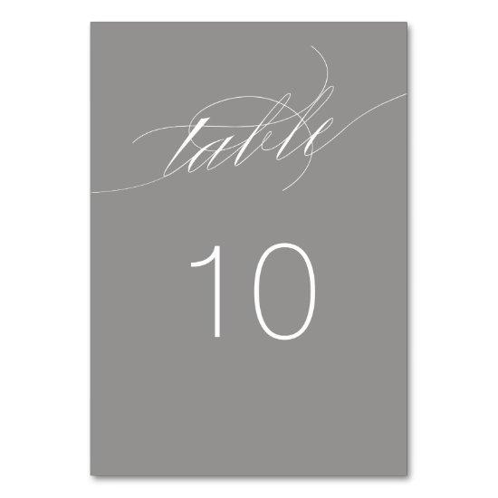 Elegant Script Table Number Card