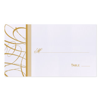 Elegant Script Table Seating Place Card - Gold Business Card