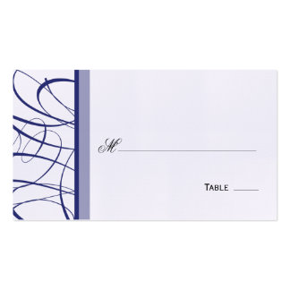 Elegant Script Table Seating Place Card - Navy Business Cards