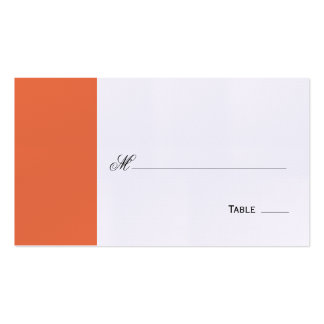 Elegant Script Table Seating Place Card - Orange Business Card