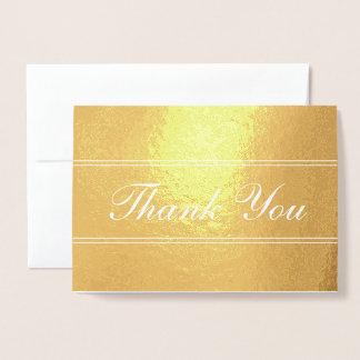 Elegant Script Thank You Foil Card