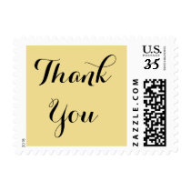 Elegant Script Thank You Wedding US Postage Stamp