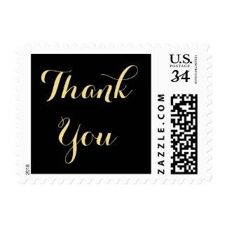 Elegant Script Thank You Wedding US Postage Stamp