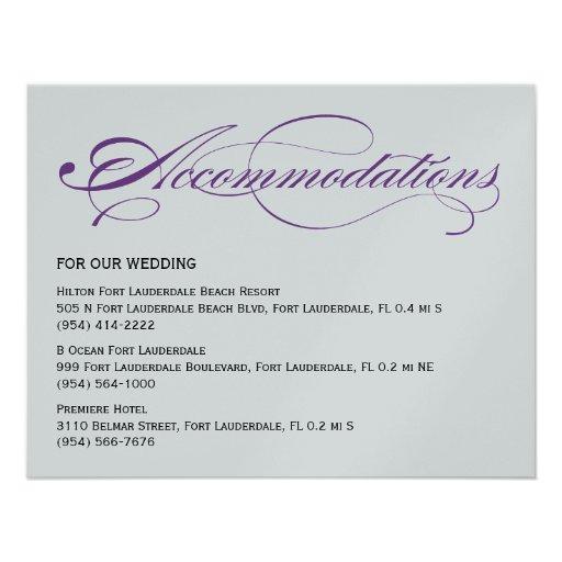 Elegant Script Wedding Accommodations