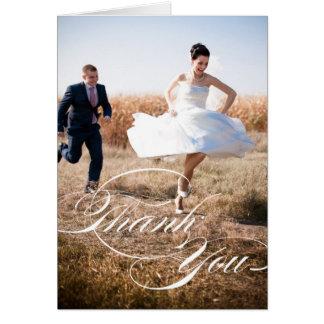ELEGANT SCRIPT | WEDDING PHOTO THANK YOU CARD