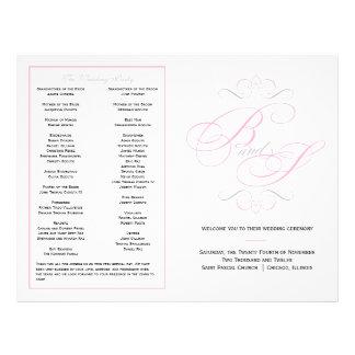 Elegant Script Wedding Program - Pink Flyer