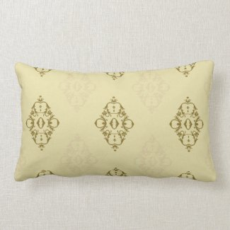 Elegant Scroll Design in Gold or Any Color Pillows