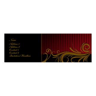 Elegant Scroll Design Mini Business Card